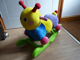 MOTHERCARE CATERPILLAR ROCKER - soft bodied - lovely condition! IMMACULATE - NOW REDUCED!
