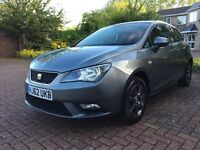SEAT IBIZA 1.4L 2013 PETROL METALLIC GREY/VW POLO-12 MONTHS MOT IMMACULATE CONDITION-15K FROM NEW