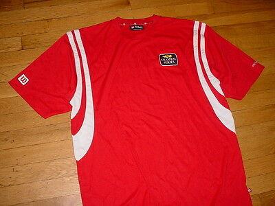 Wilson Us Open Bank Of The West Classic Tennis Jersey Shirt Red Hyper Tek Nice