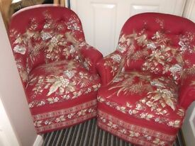 Stylish Pair of Tub Style Chairs