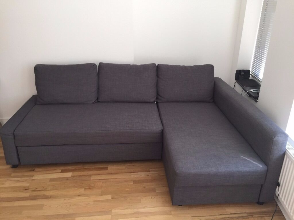 ikea corner sofa bed 11 months used available mid november in hammersmith london gumtree. Black Bedroom Furniture Sets. Home Design Ideas