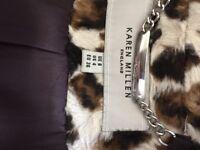 Karen Millen faux leopard ponyskin coat