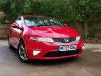 Honda civic 1.4 Si nearly 2010 5 door hatchback red