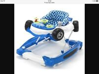 Blue baby walker as new
