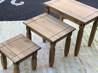 Mexican Pine Nest of Tables (@07752751518)