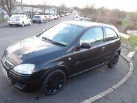 2005 Black Vauxhall Corsa SXI Twinport 1.2 *low mileage*