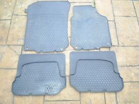 VW golf rubber mats