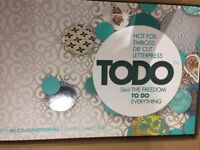 New unused Todo Die cutting,letter pressing and hot foil embossing machine