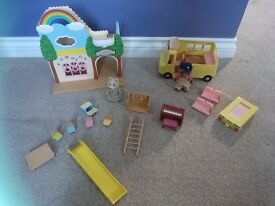Sylvanian Families Rainbow Nursery & Bus Set