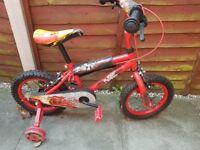 """Cars 14"""" Boys Kids bike"""