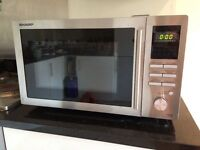 Sharp R-82STM-A 25l combination microwave and grill boxed as new £80 North London