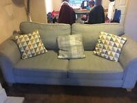2 x 3 seater sofas in grey
