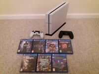 Playstation 4 500Gb Original in Glacier White with 7 games