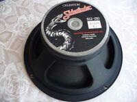 Marshall amp loudspeaker cabinet . Celestion Sidewinder guitar speaker