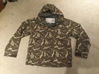 Animal camouflage snowboard jacket age 10/12years