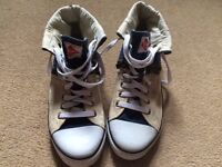 Mens / Boys Lee Cooper Baseball Trainers Shoes Denim size 9 zip up & lace style