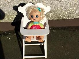 Doll & Highchair