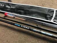 TAKTIX KARMA CARBON CARP PICKER ROD COARSE FISHING TWIN TIP FEEDER ROD & BAG