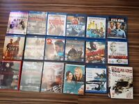 13x blu ray+ 5 dvds (all like new - some still in packaging