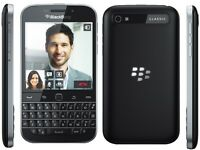 Blackberry Classic Q20 Black Unlocker for Sale Like New Grade A all Accessories Genuine Leather Case