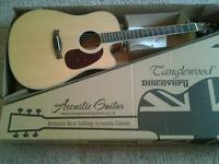 TANGLEWOOD DISCOVERY DBT DCE OV ELECTRO ACOUSTIC GUITAR, UNPLAYED NEW CONDITION.