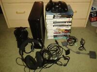 Xbox 360 Slim Matte Black with 17 Games and Accessories. Pickup Only £150 Ono.