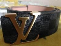 Black LV belt
