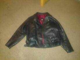 Leather Bikers Jacket XL