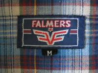 Mens Falmers vintage casual check shirt.