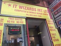 IT Wizards PC & LAPTOPS / MOBILE PHONES repair services from ONLY £25