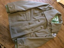Ladies Roxy Green 70% Wool Coat, Excellent Condition, no marks or rips, from smoke/pet free home