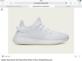 Yeezy boost triple white