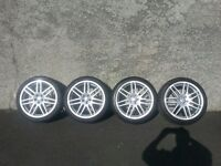 "VW Audi Style Alloys 18"" 5 x 100 Golf Bora Passat"