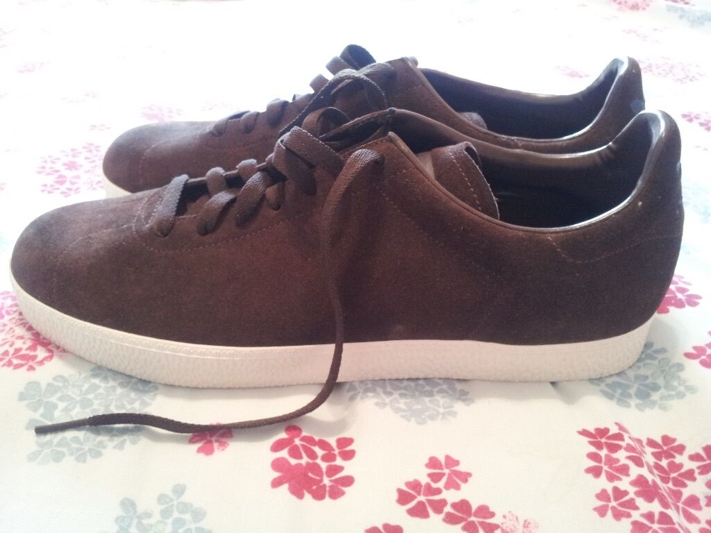 ADIDAS GAZELLE TRAINERS. Size 10. Chocolate Brown Suede Leather. Mens Gents  Retro Old School Puma 99d056e8b