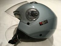 Dainese D-Jet Open Face Moped Motorbike Helmet with Visor, Size M, Light Blue