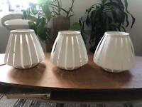 3 x IKEA Lakheden lampshades