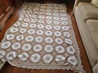 vintage crocheted throw for double bed