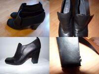 Aldo black leather shoes size 8