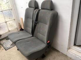 VW campervan Seats with seatbelts Inca