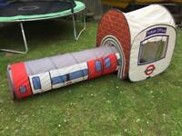 London Underground children's playhouse tunnel/tent
