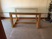 Next Oak and Glass Dinning Table