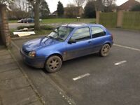 2001 FORD FIESTA 1.3CC PETROL WITH MOT DRIVES VERY WELL