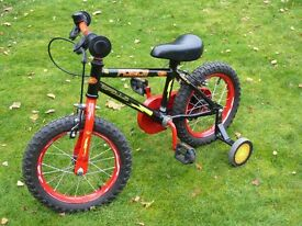 Child's first bike with stabilisers.