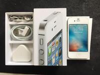 iPhone 4s 16GB, unlocked, white, good condition, full working.