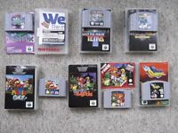 6 Nintendo 64 games & manuals - MarioGolf, Tetrisphere, BanjoKazooie, BuckBumble, Wetrix, New Tetris