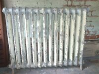 Reclaimed free standing cast iron column radiator, 14 sections