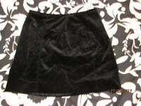 BLACK SHORT VELVET SKIRT 14 PETITE BY NEXT GREAT FOR NIGHT OUT