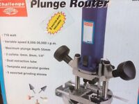 Challenge Plunge Router Tool - as new