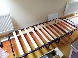 Single fold up bed with mattress