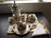 Royal Albert Country Roses Coffee Set